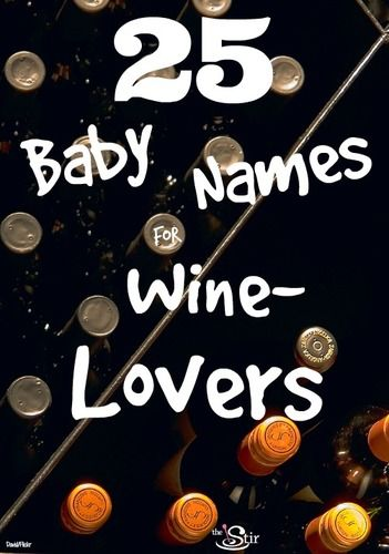 baby names for wine lovers