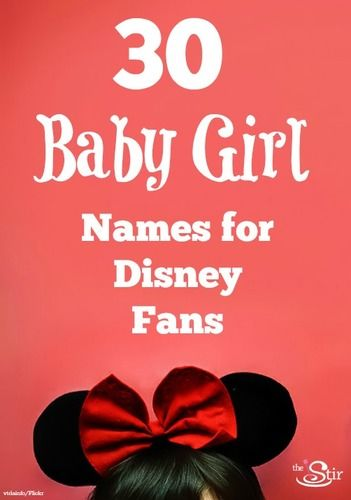 30 baby girl names for Disney fans