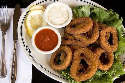 calamari with a condom in it