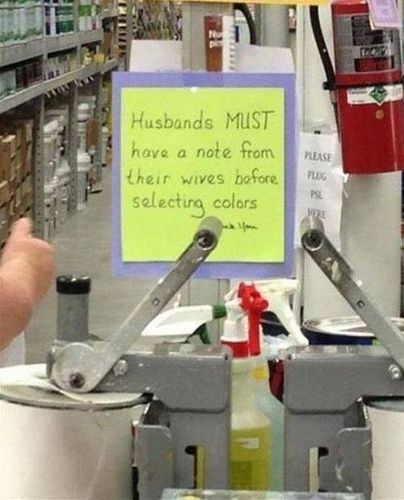 funny sign at hardware store