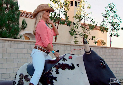 tamra judge gets thrown from a mechanical bull