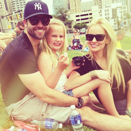 emily maynard with fiance and daughter memorial day