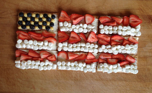 graham cracker July 4th flag treats