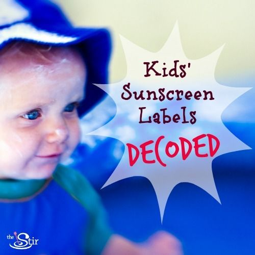 Kids' Sunscreen Labels Decoded