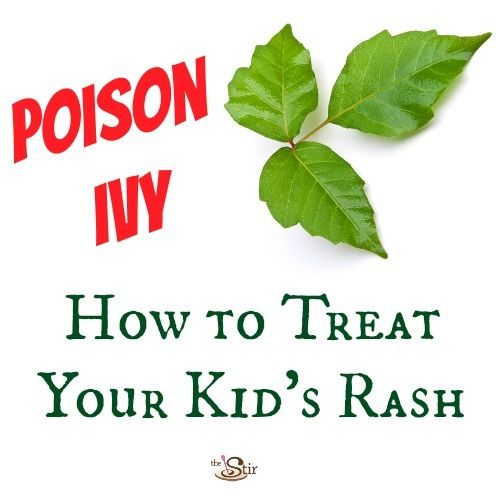 poison ivy: how to treat your kid's rash