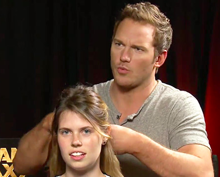 Chris Pratt French Braids Hair