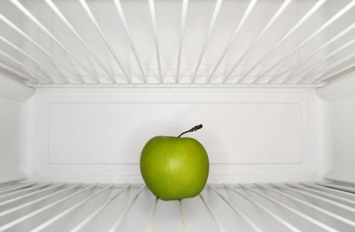 apple in refrigerator