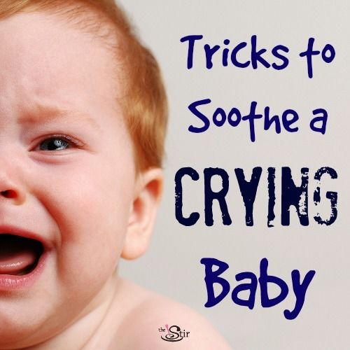 Tricks to soothe a crying baby