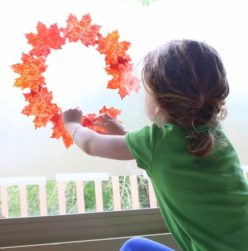 Fall Sticky Window Art Toddler Suncatcher