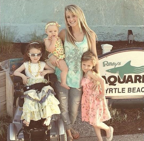 Leah Calvert and daughters