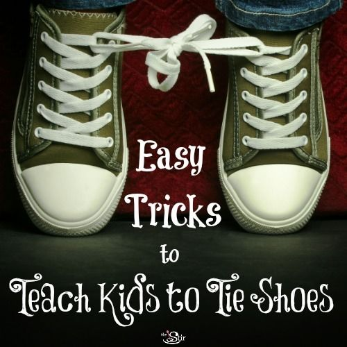 First off, don't try to teach your kid this task if you're rushing out the door! Learning to tie shoes can take up to a month of consistency and dedication