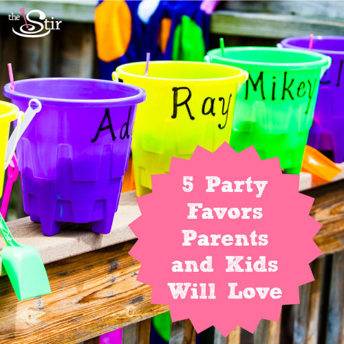 kids party favor buckets