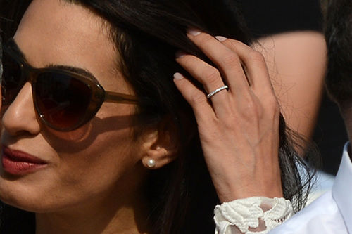 George Clooney & Amal Alamuddin Show Off Wedding Rings In