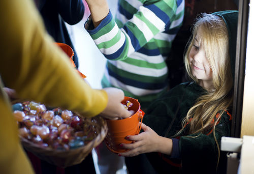 halloween candy trick or treating