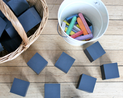 chalkboard paint blocks