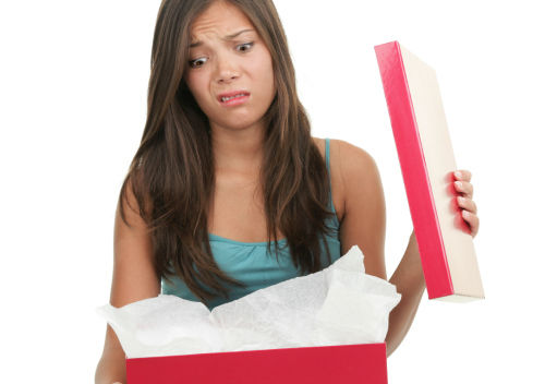 disappointed woman on Christmas