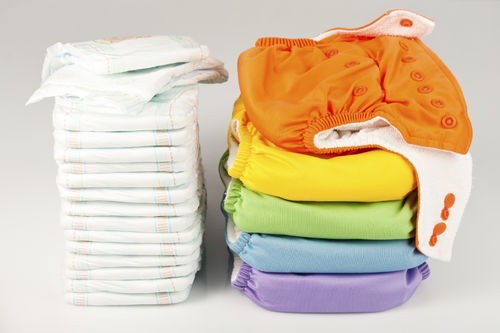 disposable and cloth diapers