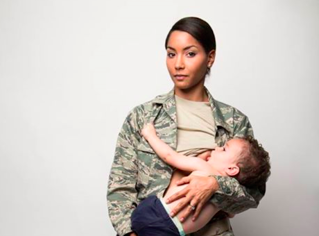 breastfeeding air force mom