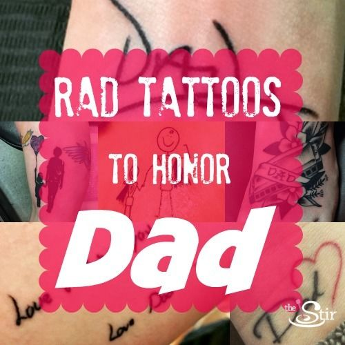 25 Truly Incredible Tattoos To Pay Tribute To Dad (PHOTOS