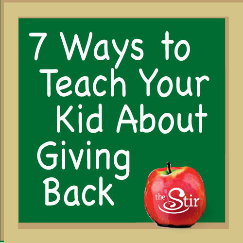 ways to teach kid to be giving