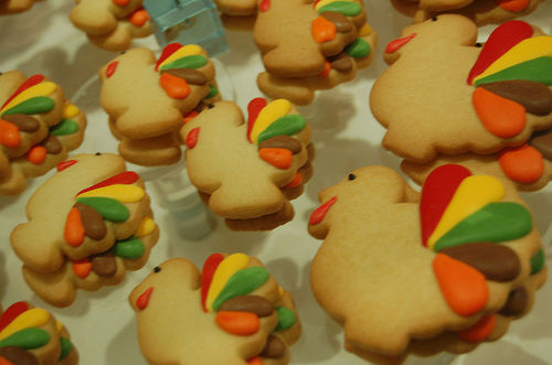 turkey cookies thanksgiving