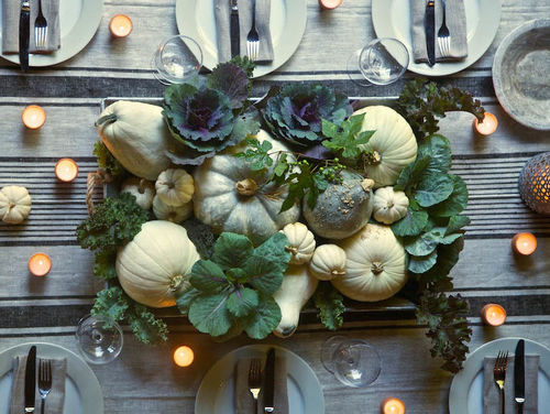 10 diy ideas for setting a modern thanksgiving table photos the stir - Interesting tables capes for christmas providing cozy gathering space ...