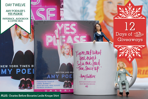 Amy Poehler swag, giveaway