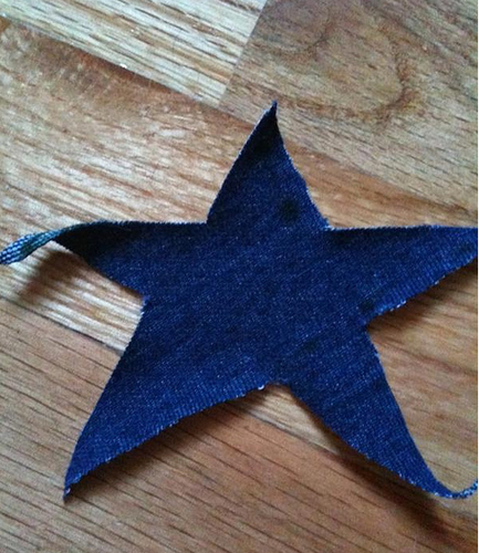 star cut out of fabric