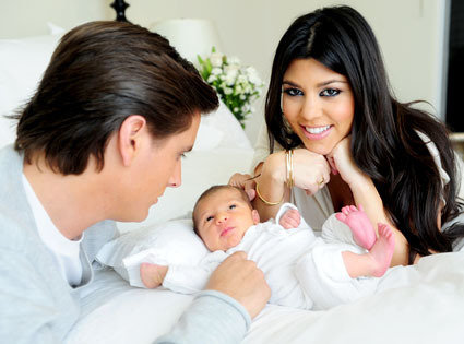 Kourtney Kardashian and Baby Mason