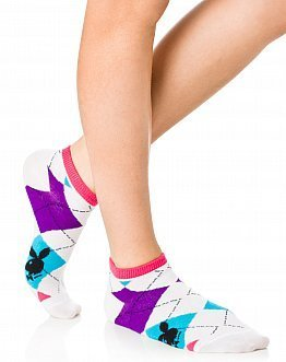 playboy argyle ankle socks