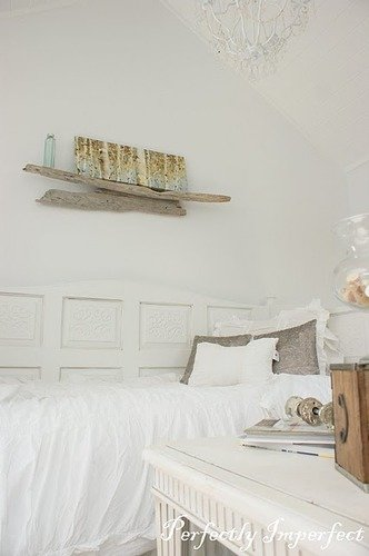 driftwood display shelf bedroom
