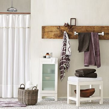 bathroom wood towel rack