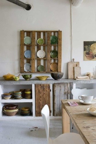 kitchen pallet dish rack
