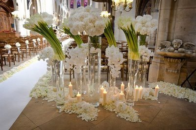 Flowers at Eva Longoria's Wedding