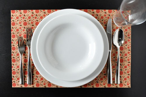 DIY placemat table setting