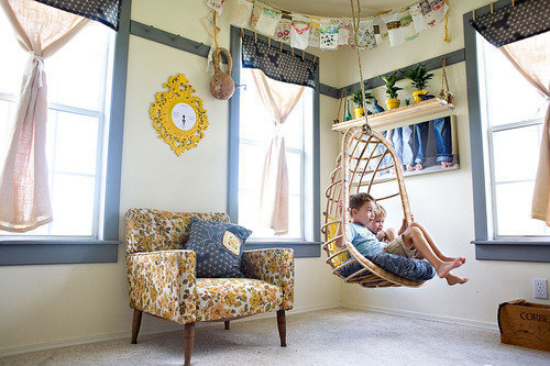 hanging chair playroom kids