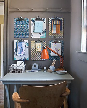 clipboard wall Martha Stewart