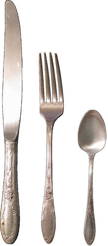 silverware flatware knife fork spoon