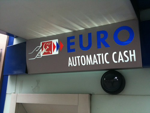 ATM Euro machine European