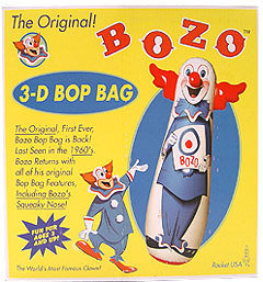 Bozo punching bag clown