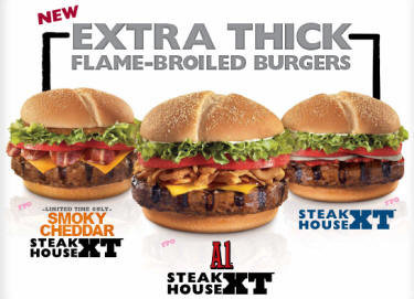 burger king smoky cheddar steakhouse xt burger