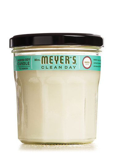 mrs. meyers basil scented candle