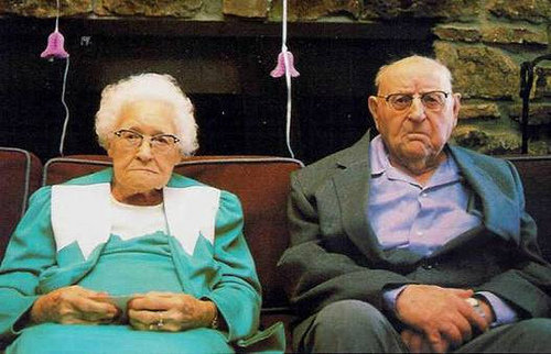 old unhappy couple