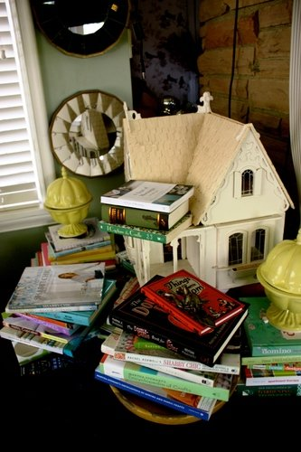Book collection yellow urns