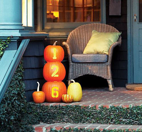 pumpkin house numbers