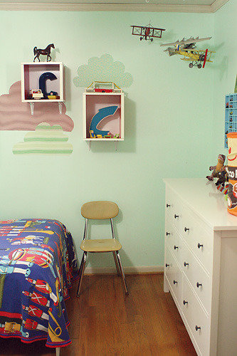 boys room chair vignette
