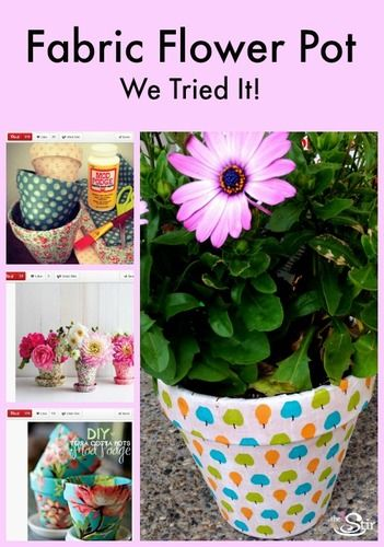 Diy Mother S Day Gift Idea Colorful Fabric Covered