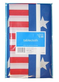 4th of July Fourth tablecloth flag