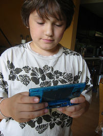 video gaming kid
