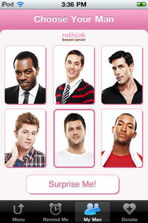 your man reminder breast cancer app